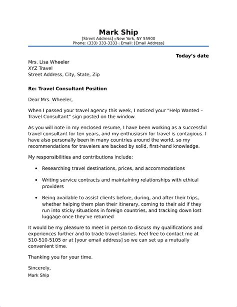 Resume Overlapping Dates by Travel Consultant Cover Letter Sle