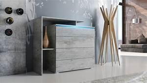 Möbel In Betonoptik : sideboard kommode schrank anrichte highboard lissabon in moderner betonoptik ebay ~ Frokenaadalensverden.com Haus und Dekorationen