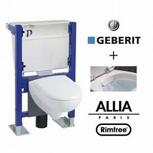 Modele De Wc : pack wc suspendu b ti avec cuvette allia prima rimfree ~ Premium-room.com Idées de Décoration