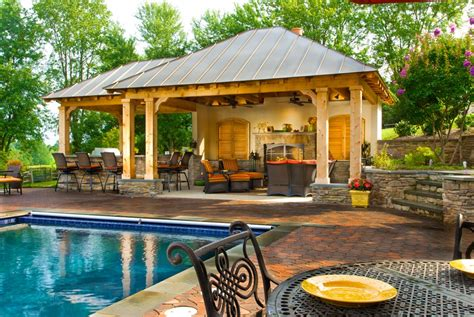 backyard designs with pool and outdoor kitchen backyard bar pavillion home gt kitchen gt article gt eclectic white covered outdoor kitchen with