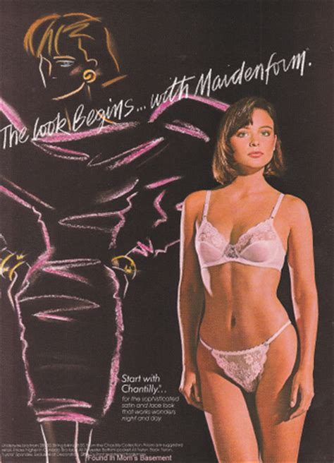 1987 Maidenform ad   Her eyes are up there boys!   By ...