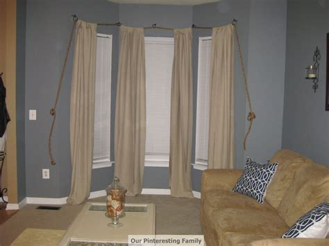 pinteresting family nautical rope curtain rod  post