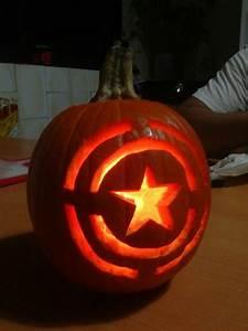 Pumpkin Carving Designs 2018 Captain America Pumpkin Manualidades Pumpkin Carving