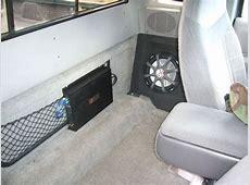 sub box where side fold seats are 2004 ranger Ranger