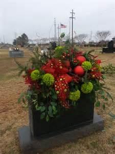 Christmas Flower Arrangement Cemetery