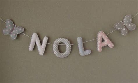 femme de chambre en 4 lettres banderole prénom ou lettres pour décoration chambre bébé