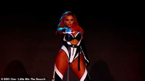 Little Mix don skintight leather outfits as they perform ...