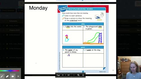 monday   pg  multiple meaning words youtube