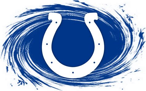 nfl indianapolis colts logo blue whirlpool  wide