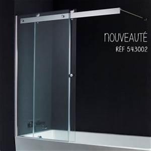 Volet Pivotant Seul Pour Paroi Fixe : pare baignoire coulissant pare baignoire pivotant ~ Mglfilm.com Idées de Décoration