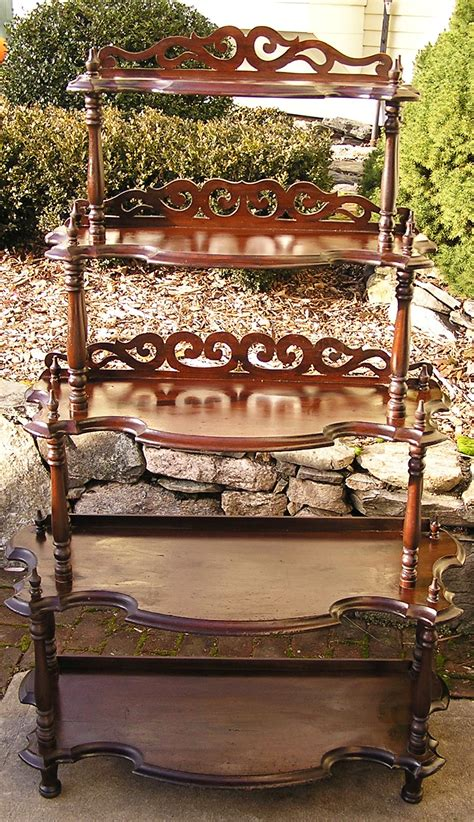Etageres For Sale by Walnut Etagere Waterfall Whatnot C 1870 For Sale