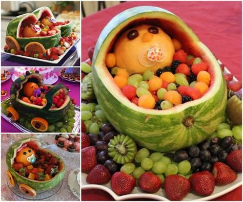 Simple Watermelon Baby Fruits Basket  Baby Shower Ideas