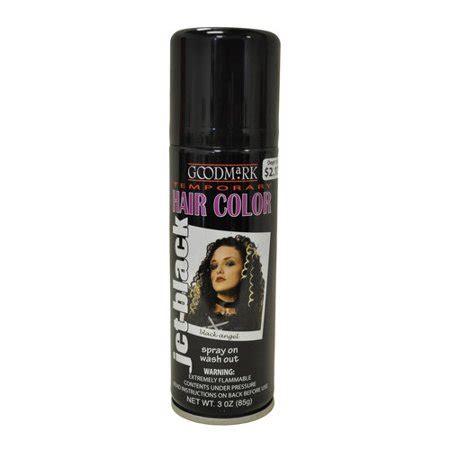 walmart temporary hair color goodmark temporary hair color spray black walmart