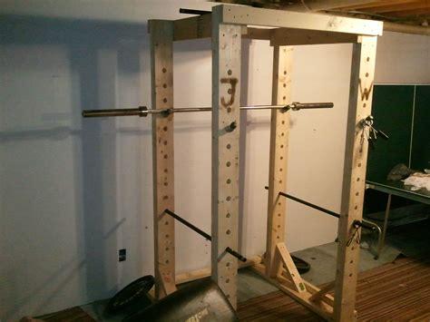 diy power rack wooden power rack all things
