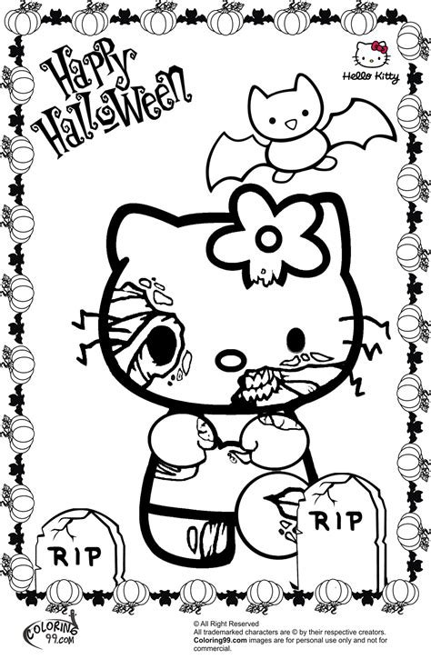 kitty halloween coloring pages minister coloring