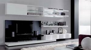 Meuble Tv Original : 35 id es pour le meuble t l design moderne ~ Teatrodelosmanantiales.com Idées de Décoration