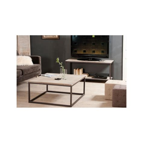 bureau style industriel en m騁al et bois meuble de salon industriel