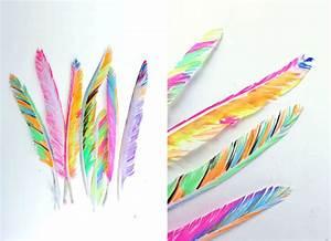 Dessin De Plume Facile : bricolage avec des plumes ~ Melissatoandfro.com Idées de Décoration
