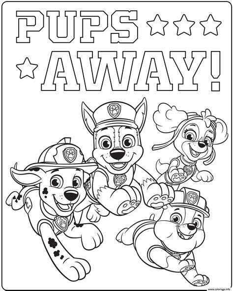 Coloriage Ultime Pat Patrouille Pups Away dessin