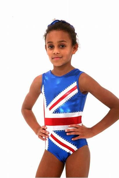 Gymnastics Leotard Dance Sleeveless Bling Flag Lilachelene
