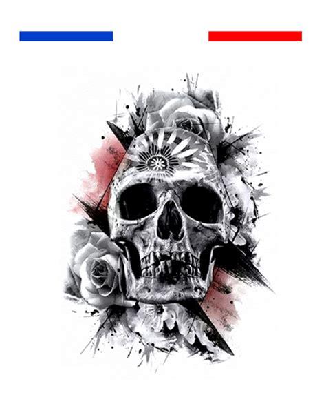 tatouage tete de mort tatouage t 234 te de mort r 233 aliste temporaire mon petit