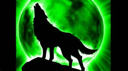 Wolf Silhouette Howling Anime Moon Cool Wolves