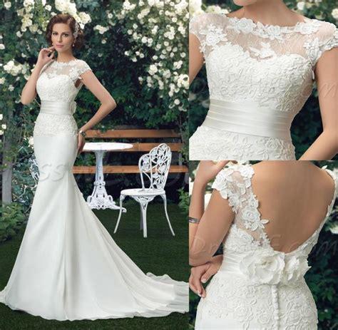 beautiful lace wedding dresses beautiful new arrival chiffon lace mermaid wedding dresses 2016 bateau backless bridal gown