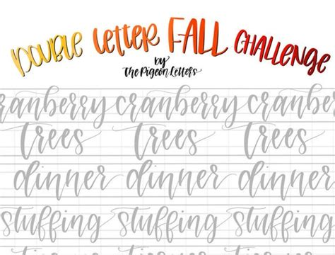 practice sheets fall double letter words  november hand