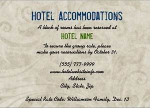 image gallery wedding accommodations With wedding invitation inserts hotel info