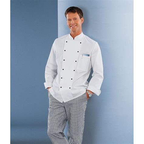 veste cuisine femme manche courte veste cuisine col officier manches avec manchettes 100 coton