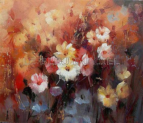 protection sol bureau tableau peinture fleur le bleu du ciel destockage grossiste