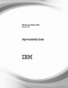 Qradar Siem High Availability Guide