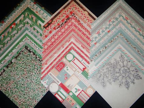 12x12 Scrapbook Paper DCWV Christmas Winter 2014 Holiday ...