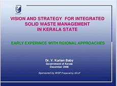 Municipal Solid Waste Management in Kerala vision and