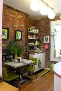 small kitchen interior design small condo in new york charms with its exposed brick walls