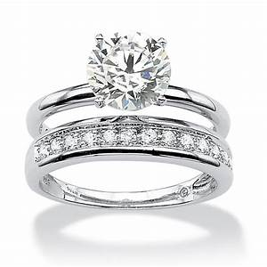 220 tcw round cubic zirconia wedding ring set in platinum With palm beach wedding rings