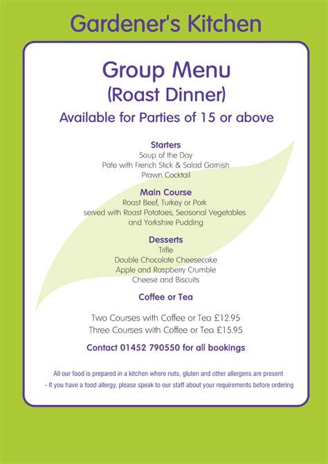 roast kitchen menu menu roast dinner option restaurant trioscape