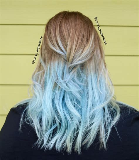 Light Blue Ends Frozen Hair In 2019 Dyed Hair Blue