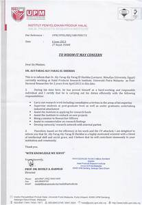 Recommendation Letter (Director of Halal Institute Malaysia)