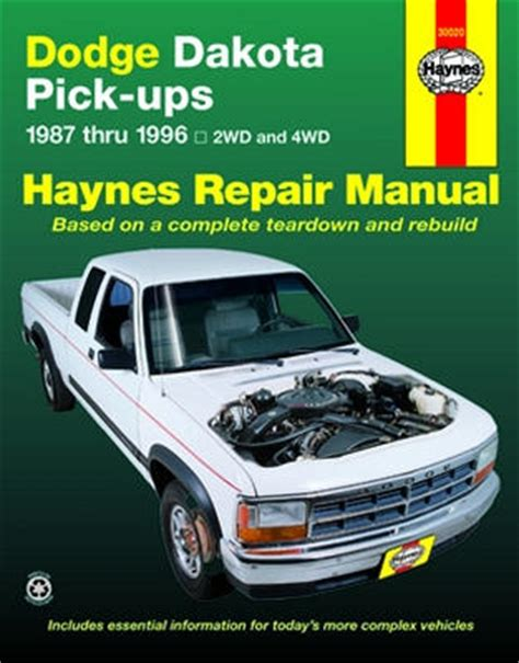 online car repair manuals free 2001 dodge ram van 3500 regenerative braking dodge dakota pick up haynes repair manual 1987 1996 hay30020