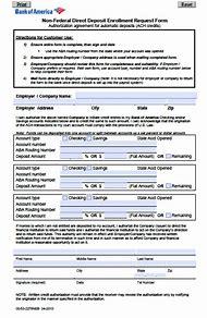 Bank Of America Direct Deposit Form