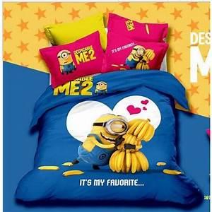 Housse De Couette 3d : housse de couette bed linen minion caricature 3d 2 taies ~ Dailycaller-alerts.com Idées de Décoration