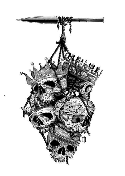 Ink on paper, 297x420 mmVector illustration | Illustrations | Tattoo drawings, Skull tattoos