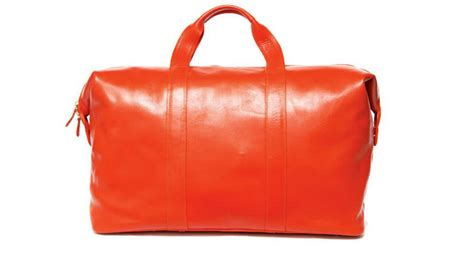 leather weekender bag with shoe compartment at the carousel june july 2012 australian traveller