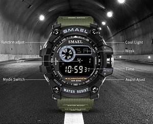 Cool New Style Smael 8010 Wrist Watch Digital Watch