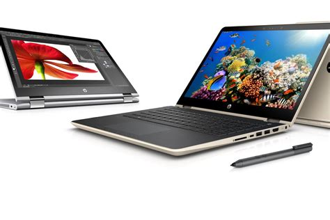 Merk Laptop Hp Pavilion X360 hp s refreshed pavilion x360 line adds pen support and new