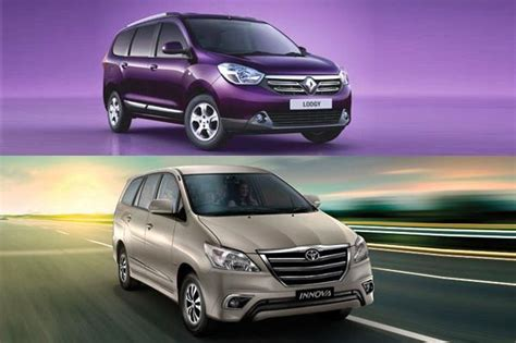 renault lodgy specifications renault lodgy vs toyota innova price and specifications
