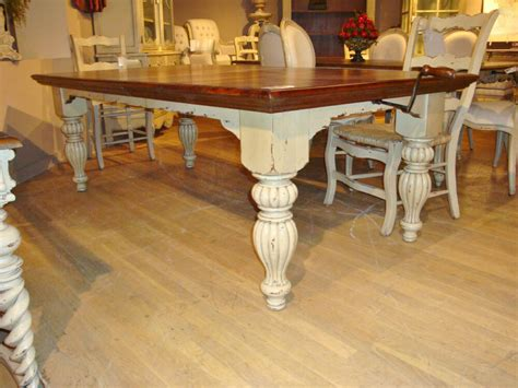 distressed white farmhouse dining table french country