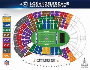 Coliseum Seating Chart Rams Rams Tickets Seating Chart World Of Reference