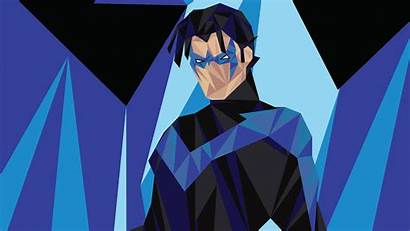 Nightwing Poly Low Wallpapers Justice Young Superheroes